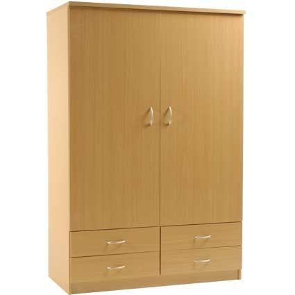 2 Door 4 Draw Wardrobe