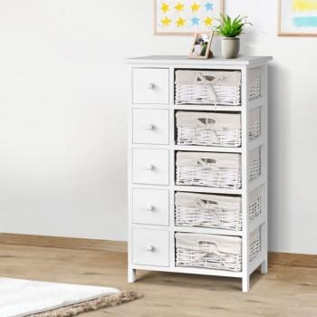 Artiss 5 Basket Storage Drawers – White