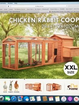 Pet Scene XXL Rabbit/chicken Coop