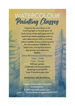 Watercolour Painting Class