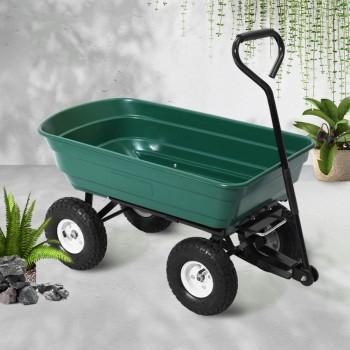 Gardeon 75L Garden Dump Cart – Green