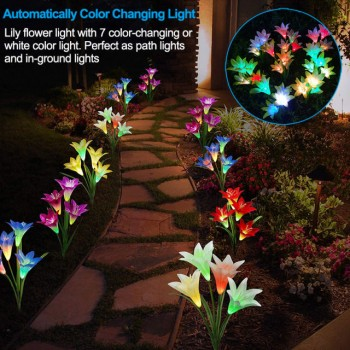 Lily flower LED solar lights