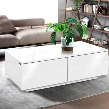 Artiss Modern Coffee Table 4 Storage Dra