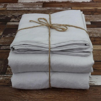 Buy Linen Sheets Set Stone Grey From Lin