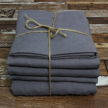Buy Linen Sheets Set Lead Grey From Line