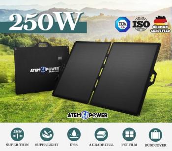 12V 250W Folding Solar Mat Blanket Solar