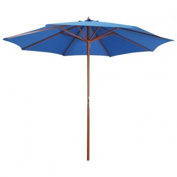 Parasol with Wooden Pole 300×258 cm Blue