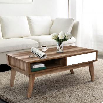 Artiss Coffee Table 2 Storage Drawers Op