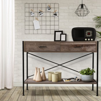 Artiss Wooden Hallway Console Table - Wo