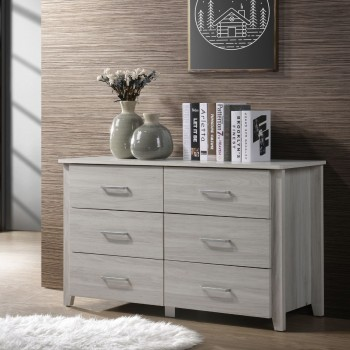 White 6 Chest of Drawers Bedroom Cabinet