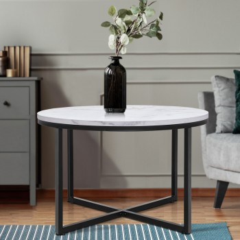 Artiss Coffee Table Marble Effect Side T