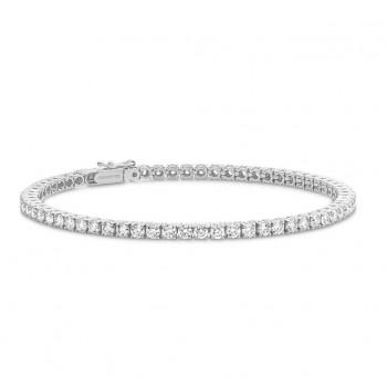 Tennis Diamond Bracelet | White Gold