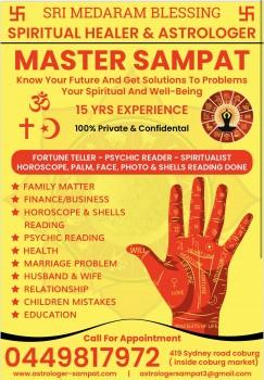 Astrologer Love Psychic Mediums Clairvoyant Spiritual healer in Melbourne