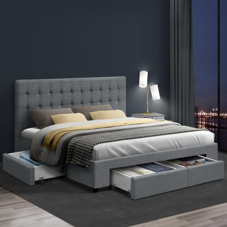 Artiss Bedroom Storage Cabinet - WhiteQU