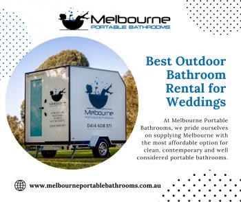 Get Our Best Outdoor Bathroom Rental For Weddings