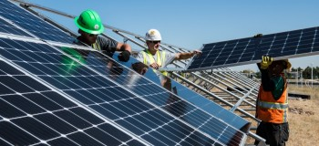 Save energy by using solar panel system