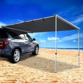 Car Shade Awning 2.5 x 3M – Charcoal Bla