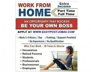 Work from home online jobs vacancy, 1500