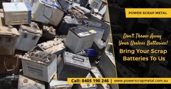 Capitalise on the Scrap Batteries - Sell
