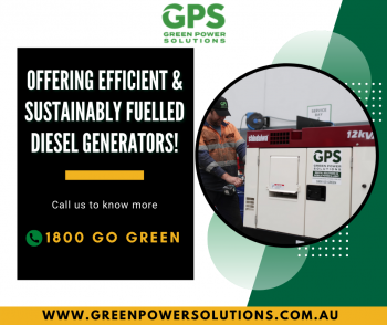 Affordable Diesel Generator For Sale in Victoria - Green Power Solutions