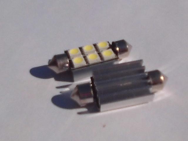 white Canbus 12V 39mm 6SMD 5050 LED