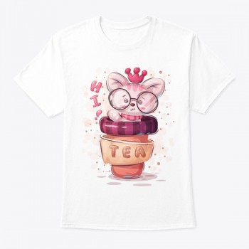Tea Cup Cat T-shirt