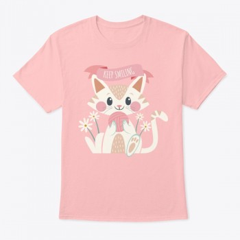 Keep Smiling Cat T-shirt