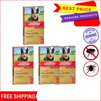 Advantix is 3,6,12 Pack for 10-25 Kg Dog