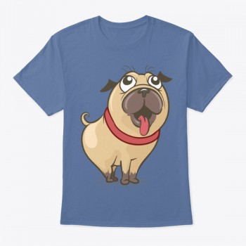 Lovely Pug Dog T-shirt | Gift Idea for D