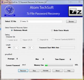 7z Password Recovery Tool