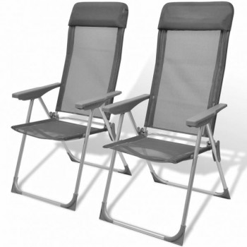 Foldable Adjustable Camping Chairs Alumi