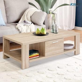 Artiss Coffee Table Wooden Shelf Storage