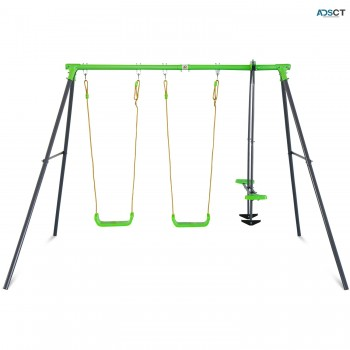 LK28 Hurley 2 3 Station Metal Swing Set