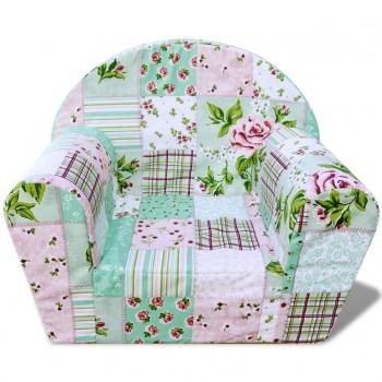 Kids' Armchair Flower Pattern