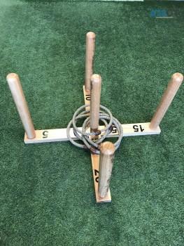 Mega Quoits Wooden Rope Ring Toss