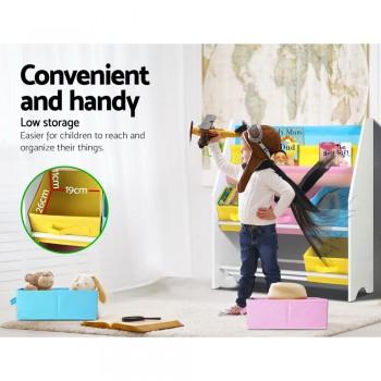 Artiss Kids Bookshelf Toy Storage