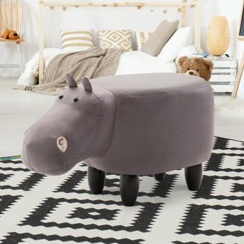 Keezi Kids Ottoman Stool Toy Hippo Chair