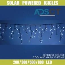 Get Solar Powered Christmas Lights and M