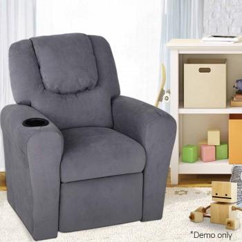 Artiss Kids Fabric Reclining Armchair