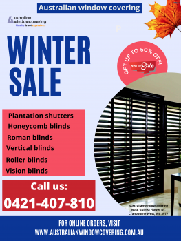 Special winter offer honeycomb blinds