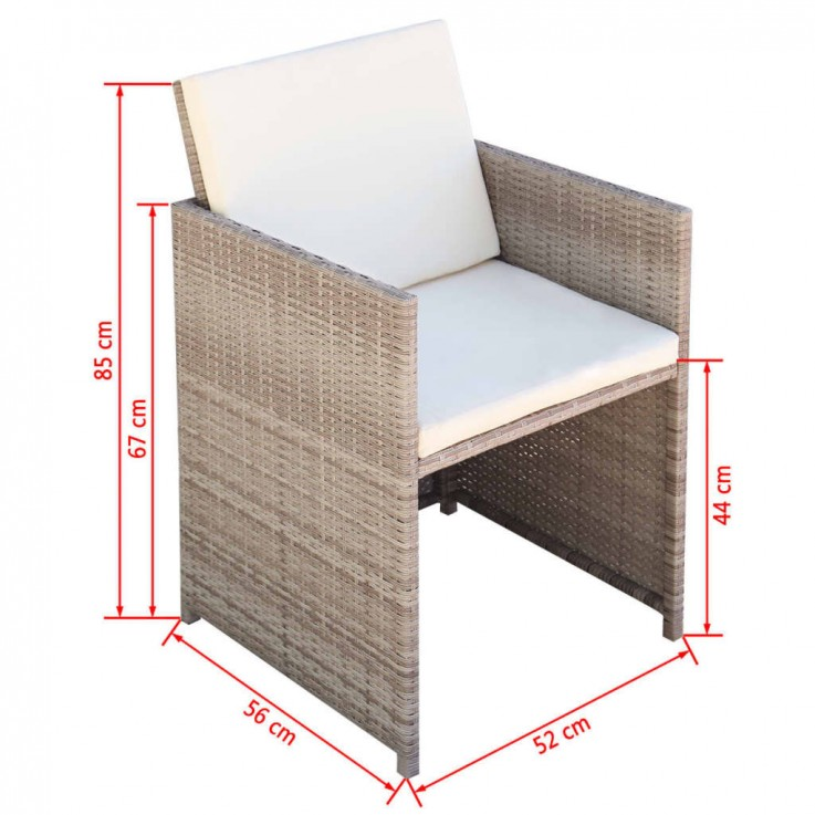 11 PIECE OUTDOOR DINING SET WITH CUSHION