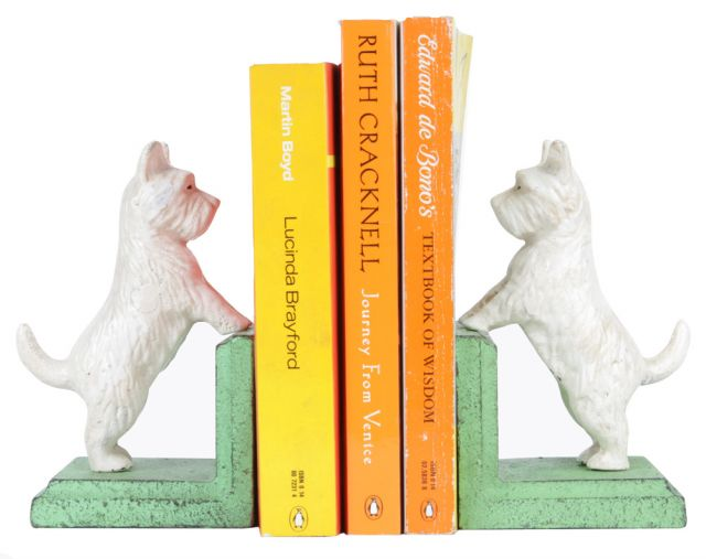 Antique Look Terrier Dog Bookends
