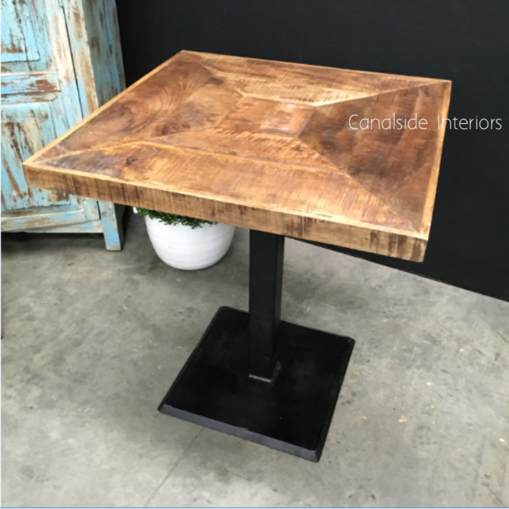 Emerson Rustic Cafe Table Top & Base
