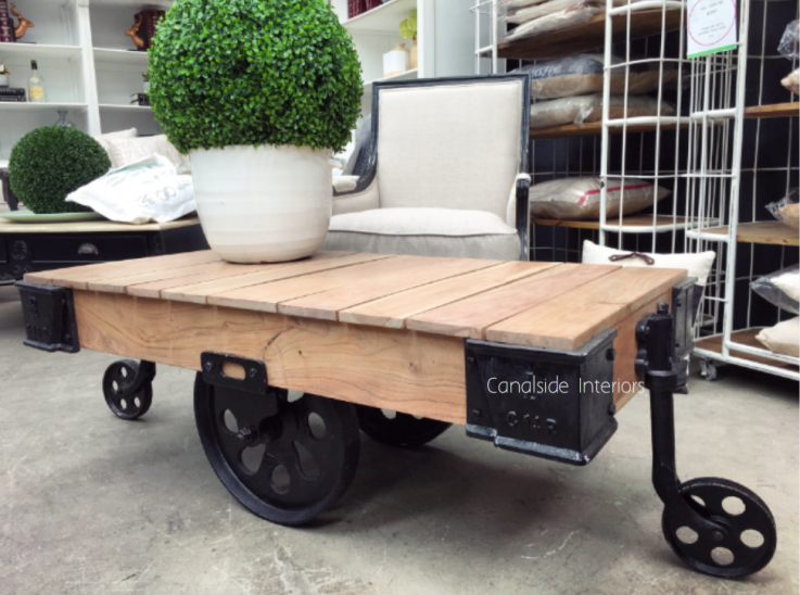Cartage Industrial Coffee Table on Casto