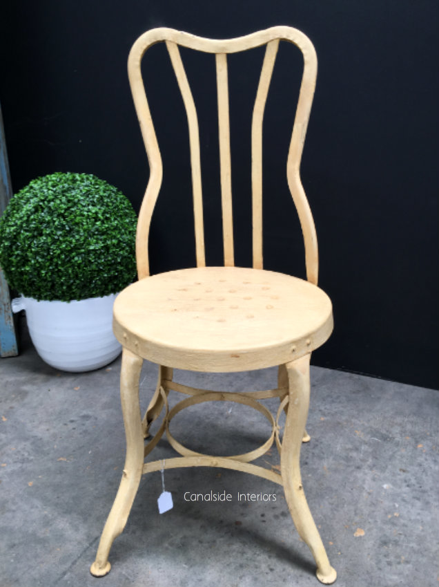 Shaped Back Industrial Chair - Yellow -
