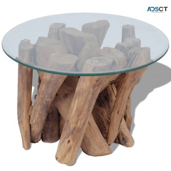Coffee Table Solid Teak 60 cm $250.76