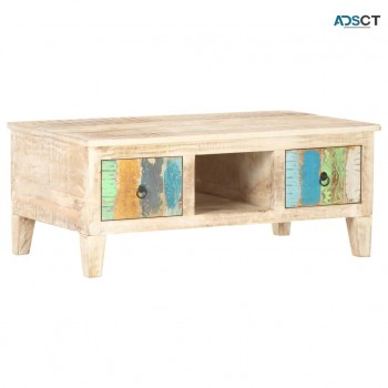 Coffee Table 100x55x40 cm Rough Acacia W