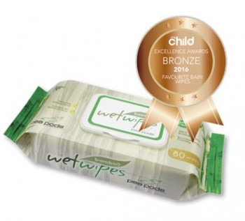 Pea Pods Bamboo Wet Wipes
