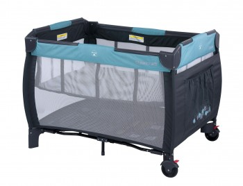 Siesta 2 In 1 Travel Cot Blue Leaves