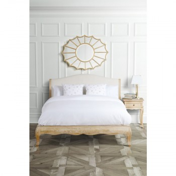 Les Milles Queen Bed Solid Oak